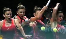 Simona Halep, în acţiune, la Turneul Campioanelor de la Singapore (Foto: Reuters/Jeremy Lee Livepic)