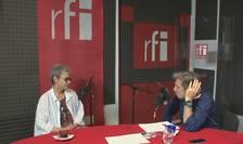 Oana Pellea și Nicolas Don în studioul RFI România