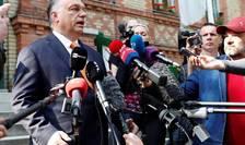 Premierul ungar Viktor Orban, fatà în fatà cu presa la Budapesta, 26 mai 2019.