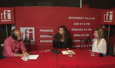 Ovidiu Nahoi, Irène Costelian si Elena Calistru in studioul de inregistrari RFI Romania