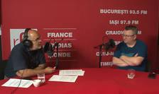Ovidiu Nahoi si Armand Gosu in studioul de inregistrari RFI Romania