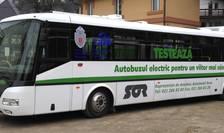 Autobuz electric testat în Bucureşti
