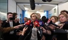 """Valérie Pécresse, lider al partidului """"Republicanii"""" anuntînd la televiziune plecarea sa din sînul formatiunii, 5 iunie 2019."""