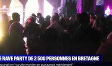 Petrecere ilegală în Franța, de Revelion (Sursa: captură video BFMTV)
