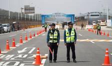 Politisti sud-coreeni pregatiti pentru summitul intercoreean, 26 aprilie 2018