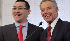Foștii premieri Victor Ponta și Tony Blair