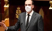 Premierul Jean Castex detaliaza în fata parlamentarilor o parte din noile masuri restrictive destinate eradicarii pandemiei de COVID-19, 29 octombrie 2020.