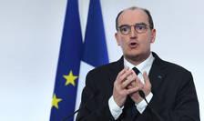 Premierul Jean Castex în cadrul unei conferinte de presa privind situatia sanitara în Franta si sustinuta pe 4 martie 2021 la Paris.