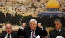 Presedintele Autoritatii Palestiniene Mahmoud Abbas în timpul Consiliului central al Organizatiei de eliberare a Palestinei, 14 ianuarie 2018, Ramallah