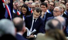 Presedintele Emmanuel Macron a deschis marea dezbatere nationala în Normandie având un dialog cu 600 de alesi locali.