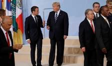 Presedintele Emmanuel Macron a discutat cu omologul sau american Donald Trump la summitul G20, 7 iulie 2017
