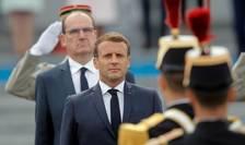 Presedintele Emmanuel Macron cu ocazia ceremoniei militare de 14 iulie.