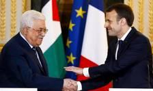 Presedintele francez Emmanuel Macron îl primeste pe omologul sau Mahmoud Abbas la Palatul Elysée, Paris, 22 decembrie 2017