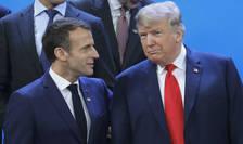 Presedintele francez Emmanuel Macron si omologul sau american, Donald Trump cu ocazia summitului G20 din Buenos Aires, 30 noiembrie 2018.