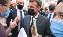 Presedintele Frantei, Emmanuel Macron, pe 8 iunie 2021, în Drôme, Franta.