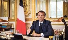 Presedintele Frantei, Emmanuel Macron, vineri, 16 aprilie 2021, la Palatul Elysée.