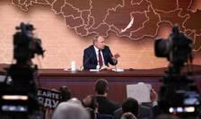 Presedintele rus Vladimir Putin în timpul conferintei anuale de presa, 19 decembrie 2019, Moscova.