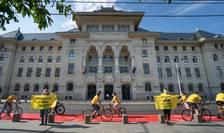 Activiștii Greenpeace cer piste pentru biciclete în București (Foto: Greenpeace)