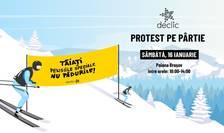 Protest Declic, în Poiana Brașov, pe 16 ianuarie 2021 (Sursa foto: Facebook/Declic)