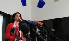 Purtatorul de cuvant al Parchetului Federal, Frauke Kohler furnizeaza ultimele informatii din ancheta privitoare la atacul de la Dortmund, la Karlsruhe, 12 aprilie 2017