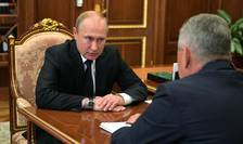 Presedintele rus Vladimir Putin s-a întâlnit pe 2 iulie 2019 cu ministrul rus al apàràrii, Serghei Soigu, în urma mortii a 14 marinari la bordul unui submarin nuclear