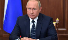 Presedintele Rusiei Vladimir Putin adresându-se natiunii, 29 august 2018