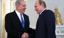 Premierul Israelului Beniamin Netaniahu si presedintele Rusiei Vladimir Putin