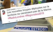 Pe #RadioLondres internautii francezi au avut primele estimàri ale rezultatelor de la regionale mult înaintea orei legale de difuzare