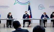 Paris, 14 decembrie 2020, preşedintele Emmanuel Macron în dialog cu membrii Convenţiei cetăţeneşti privind climatul.