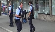 Autorul sirian al unui atac cu macetă la Reutlingen, prins de poliţişti (Foto: NonstopNews via Reuters TV)