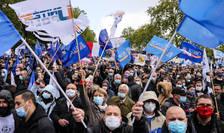 Reuniti în fata Adunarii Nationale, în Paris, pe 19 mai 2021,politistii francezi cer o dotare mai buna dar si o justitie mult mai ferma.