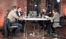 Cristian Preda (europarlamentar), Luca Niculescu (RFI), ambasadorul Franței, François Saint-Paul și Matei Vișniec (RFI)