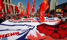 Manifestatie contra reformei pensiilor la Moscova, 2 septembrie 2018