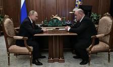 Vladimir Putin fatà în fatà cu noul premier al Rusiei, Mihail Mişustin, 15 ianuarie 2020