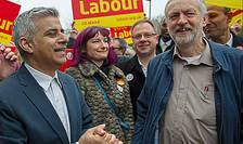 Sadiq Khan și Jeremy Corbyn