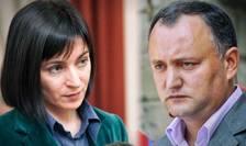 Maia Sandu și Igor Dodon se vor infrunta in turul doi al prezidentialelor