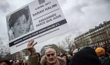Mars de protest în favoarea unui proces pentru ucigasul lui Sarah Halimi, 5 ianuarie 2020.