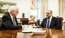 Presedintele german Frank-Walter Steinmeier discutà cu liderul SPD Martin Schulz la Berlin, pe 23 noiembrie