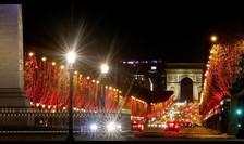 Bulevardul Champs-Elysées, decembrie 2020.