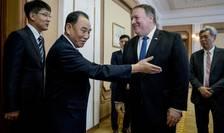 Secretarul american de Stat, Mike Pompeo la Phenian, Coreea de Nord, 6 iulie 2018