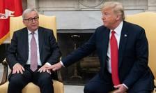 Seful Comisiei Europene, Jean-Claude Juncker si presedintele Donald Trump, Casa Alba, iulie 2018