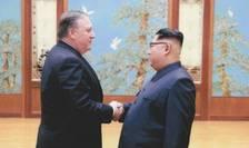 Seful diplomatiei americane, Mike Pompeo l-a întâlnit pe liderul nord-coreean Kim Jong-un pe 26 aprilie 2018 la Phenian