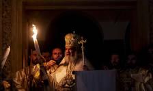 Patriarhul Daniel oficiază slujba de Înviere, la Catedrala Patriarhală din București, aprilie 2019 (Sursa: MEDIAFAX FOTO/Andreea Alexandru)