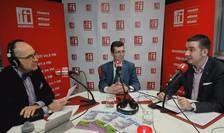 Sergiu Costache, Marius Lazlo și Puntea Stefan-Gheorghe in studioul RFI Romania