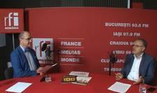 Sergiu COSTACHE și Cristian ROȘU in studioul RFI Romania