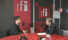 Sever Voinescu și Nicolas Don în studioul RFI România