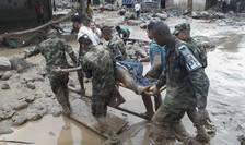 Echipele de salvatori caută supravieţuitori ai alunecării de teren din Columbia (Foto: AFP/EJERCITO DE COLOMBIA)