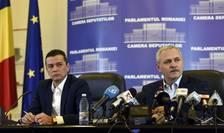 Premierul desemnat, Sorin Grindeanu şi liderul PSD, Liviu Dragnea (Sursa foto: www.psd.ro)
