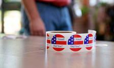 Sectie de votare la Bloomington, Indiana, 2 iunie 2020, zi de alegeri primare.
