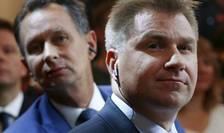 Presedintele UDC, partidul de dreapta anti-imigratie, Toni Brunner, marele învingàtor al alegerilor federale din 18 octobrie 2015